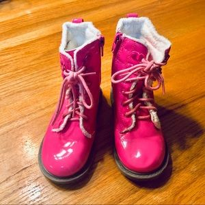 Other - Doc Martin style Hot pink patent boots, size 8.5